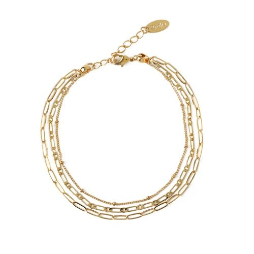 Mixed Chain Braclet -  Gold