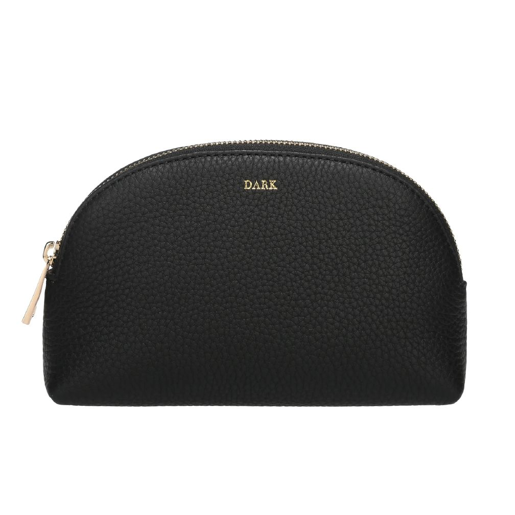 Dark Leather make-up pouch